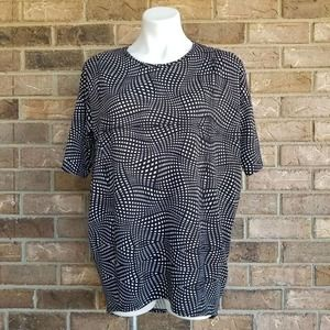LuLaRoe Black and White Abstract Irma Top